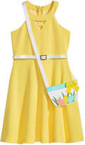 Bonnie Jean 2-Pc. Belted Skater Dress and Purse Set, Little Girls (4-6X)