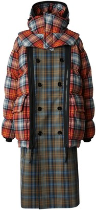 Burberry Detachable Puffer Check Trench Coat