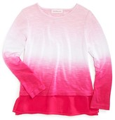 Design History Girls' Dip-Dyed Top - Sizes 2-6X