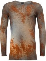 Avant Toi rust effect jumper - men - Silk/Polyester/Cashmere - XL