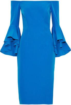 Milly Selena Off-the-shoulder Crepe De Chine Dress