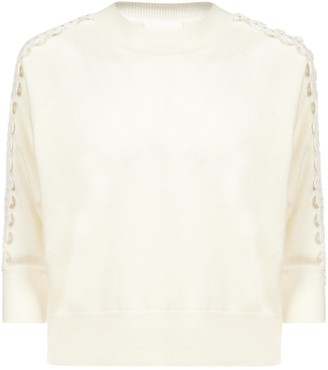 See by Chloe Laser Cut-detail Wool And Cashmere Blend Sweater
