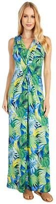 Tommy Bahama Hot Tropic Maxi Dress (Island Navy) Women's Clothing