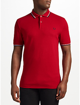 Fred Perry Twin Tipped Polo Shirt, Deep Red/navy