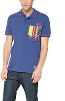 Desigual Men's Short Sleeve Polo Shirt Blue Blau (TWILIGHT BLUE 5128)