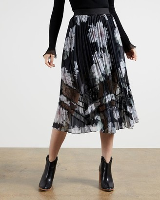 Ted Baker Clove Pleated Midi Skirt