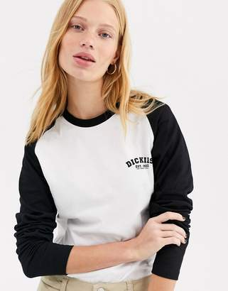Dickies relaxed long sleeve baseball t-shirt with front logo