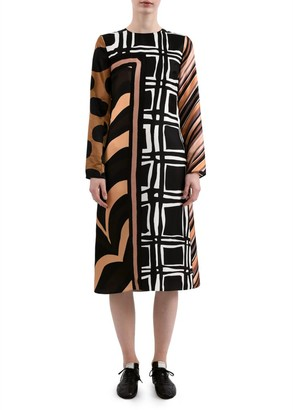 Marni Patchwork Foulard Shift Dress