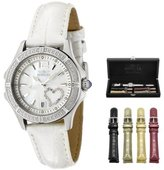 Invicta Women's 1029 Mother-Of-Pearl Dial with Interchangeable Leather Straps Watch