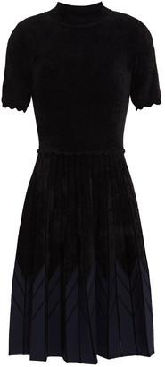 Sandro Arnis Pleated Chenille Dress