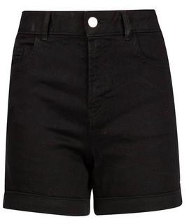 Dorothy Perkins Womens Black Denim Shorts, Black