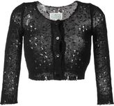 Maison Margiela distressed cropped cardigan - women - Silk - XS