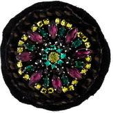 Prada Crystal Twill Round Brooch