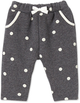 Petit Bateau Baby girls pants in polka dot cotton fleece