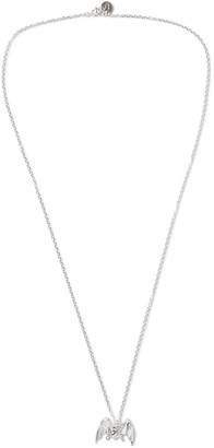 Undercover Bat Silver Necklace