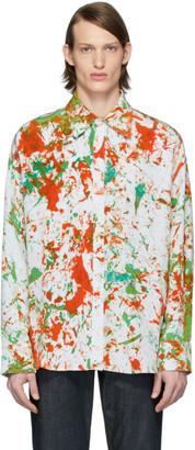 S.R. STUDIO. LA. CA. Green and Orange SOTO Hand-Dyed Oversized Shirt