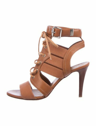 Chloé Leather Gladiator Sandals Brown