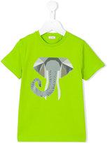 Il Gufo geometric elephant print T-shirt - kids - Cotton/Spandex/Elastane - 2 yrs