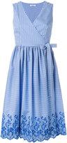 P.A.R.O.S.H. striped wrap dress - women - Cotton/Polyamide/Spandex/Elastane - XS