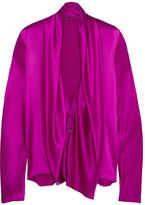 Haider Ackermann Draped Silk-satin Shirt - Bright pink