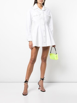 alexanderwang.t Denim Jacket Mini Dress
