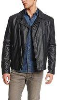 Kenneth Cole Reaction Men's Faux-Leather Asymmetric-Zip Moto Jacket