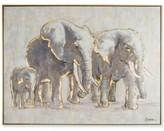 Graham & Brown Metallic Elephant Family Handpainted Framed Canvas Wall Art
