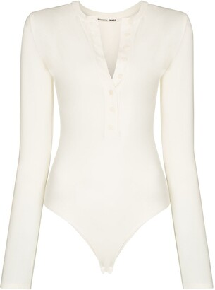 Reformation Nisa button placket bodysuit