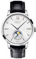 Montblanc 110699 Unisex Heritage Spirit Moonphase Alligator Strap Watch, Black/White