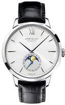 Montblanc 110699 Unisex Heritage Spirit Moonphase Automatic Alligator Strap Watch, Black/White