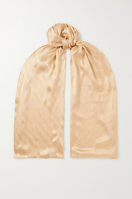 Givenchy Monogramme Silk-jacquard Scarf - Gold
