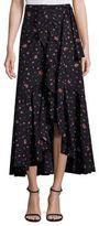 Rebecca Taylor Mia Floral Wrap Skirt