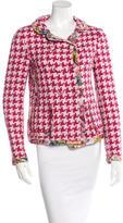 Dolce & Gabbana Silk Houndstooth Jacket