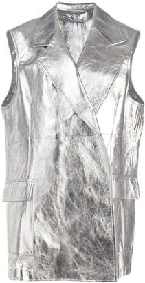 Calvin Klein Metallic Sleeveless Jacket