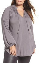 Melissa McCarthy Plus Size Women's Tie Neck Top