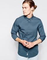 Calvin Klein Jeans Shirt In Poplin Slim Fit - Green