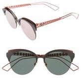 Christian Dior Women's Diorama 55Mm Retro Sunglasses - Matte Black/ Blue