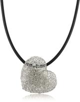 Orlando Orlandini Woven White Gold Heart Pendant Necklace w/Diamond