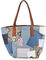 Marc Jacobs Wingman Denim Patchwork Tote Bag, Multi