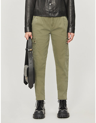 Noisy May Bronx mid-rise stretch-cotton trousers