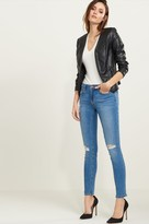 Dynamite Kate Medium Wash Distressed Skinny Jeans