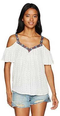 Jolt Women's Printed Cold Shoulder with Taping