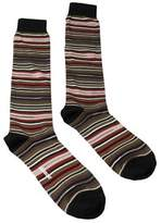 Missoni Gm00cmu5234 0001 Olive/red Knee Length Socks.