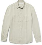 Officine Generale Benoit Slim-Fit Slub Linen Shirt
