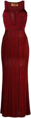 Missoni Sleeveless Pleated Maxi Dress