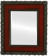 """The Oval And Round Mirror Store Williamsburg Framed Rectangle Mirror in Vintage Cherry, 31""""x43"""""""