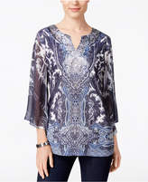 JM Collection Sublimated Studded Top, Only at Macy's