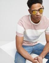 Asos Retro Sunglasses In Matt Tortoiseshell With Gold Flash Lens