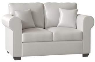 Piedmont Furniture Lydia Loveseat Piedmont Furniture Body Fabric: Bulldozer Lightning, Pillow Fabric: Piazza Heron