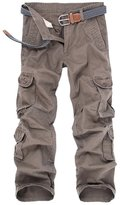 OCHENTA Men's Outdoor Loose Casual Multi Pocket Camo Cargo Pants